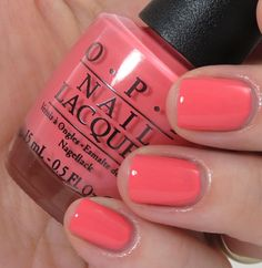 OPI Sorry Im Fizzy Today Coca Cola Collection swatch swatches Cute Nail Polish, Cute Nails, Pretty Nails, Opi Nail Polish, Nail Polishes, Coral Nails, Opi Nails, Opi Nail Colors, Manicure Y Pedicure
