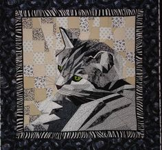 The Calico Cat: A couple cat quilts from the show. Quilt Baby, Baby Patchwork Quilt, Dog Quilts, Animal Quilts, Small Quilts, Mini Quilts, Cat Quilt Patterns, Cat Applique, Gatos Cats