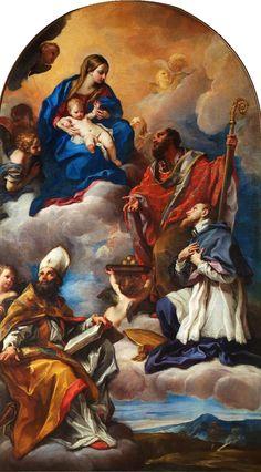 Carlo Maratta, Madonna Enthroned with Saints, 1672