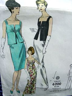 ON SALE 1950's VOGUE special design sewing Pattern by anne8865