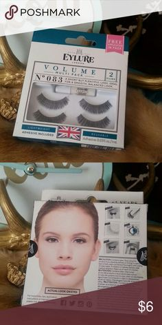 Eylure  Volume Multi Pack No. 083 BNIB Two pairs of lashes Adhesive Reusable  Bundle to save on shipping!  Sorry I don't trade. Makeup