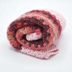 Couverture bébé crochetée laine rose pour Naissance petite | Etsy