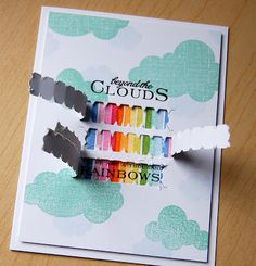 Beyond The Clouds Card by Cristina Kowalczyk for Papertrey Ink (May 2013)