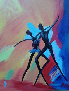 Dancing Couple - Abstract Painting