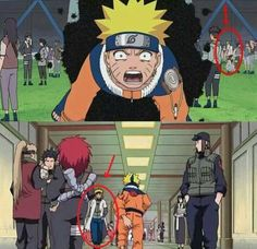 I noticed him at the bathroom scene. But to see him when Naruto is being carried by bugs. I never caught it before. He needs to go raise his son! Naruto Uzumaki, Gaara, Sasuke, Anime Meme, Manga Anime, Harry Potter Anime, Naruto Characters, Awesome Anime, Anime Shows