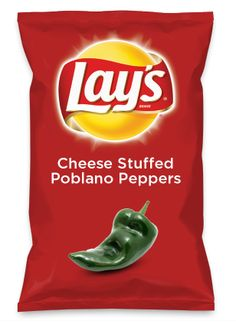 Wouldn't Cheese Stuffed Poblano Peppers be yummy as a chip? Lay's Do Us A Flavor is back, and the search is on for the yummiest flavor idea. Create a flavor, choose a chip and you could win $1 million! https://www.dousaflavor.com See Rules.