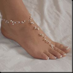 Barefoot Bridal Sandals...these would be awesome for a beach wedding
