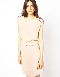Vero Moda Dress with Embellished Shoulders