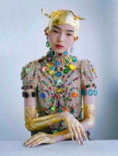 Irina Kruzhilina gravitated toward this photo of Xiao Wen Ju (taken by Tim Walker for W Magazine) in forming a look for the Ice Maiden in The Fairy's Kiss.
