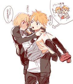 Hinata & Yachi // and before I knew it, I started shipping Yachi with several people... Hinata, Kageyama, Yamaguchi, Tsukishima, Kuroo... it's a problem...