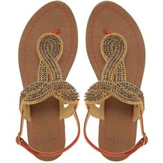 Bertie Kassis Tribal Sandals ($90) ❤ liked on Polyvore