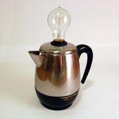 Classic Coffee Percolator Lamp
