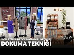 Alize Superlana Maxi Multicolor ile Dokuma Tekniği - Matting Technique - YouTube