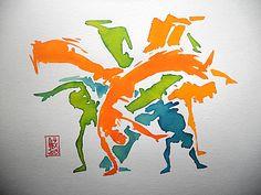 Encres : Capoeira - 236 [ #capoeira #watercolor #illustration ]