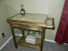 Wine cart my wife and I made.