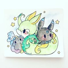 pokemon commissions are my favorite ^o^ serperior, shiny umbreon, and cosmog!