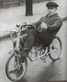 Oscar Egg.. early hour record holder... advocate for recumbent bikes
