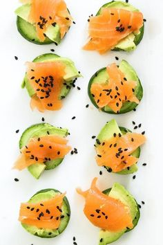 Get your snack on with this 15-Minute Low-Carb Cucumber Bites recipe.