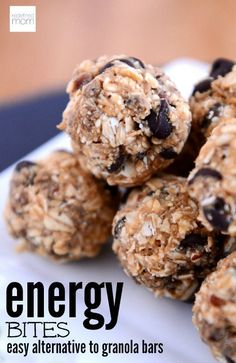 This Kid Approved No Bake Energy Bites Recipe is an awesome alternative to pre-made granola bars. Bonus: Your kids think they are dessert and it's HEALTHY.
