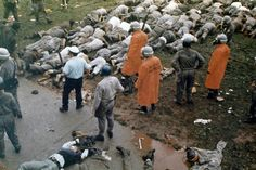 . State troopers regain control of prisoners following the Attica prison riot in Attica, New York, Sept. 13, 1971. The riot, in which 43 were killed, lasted four days during which guards were held as hostages. (AP Photo)