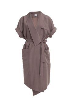 Sukienka kopertowa kamienny beż