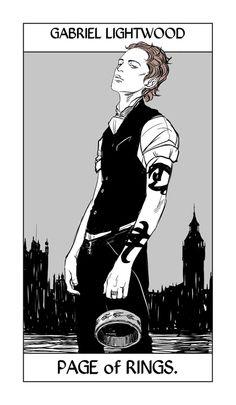 Cassandra Jean - Shadowhunter Tarot - Page of Rings (Gabriel Lightwood)