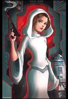 Princess Leia by chrissie-zullo. #StarWars #Art #gosstudio .★ We recommend Gift Shop: http://www.zazzle.com/vintagestylestudio ★