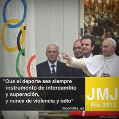 El Papa bendijo las banderas de las próximas olimpiadas.