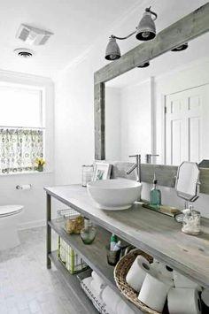 Salle de bain rustique decoration style indsutriel