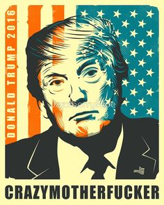 DONALD TRUMP POSTER by JazzberryBlue