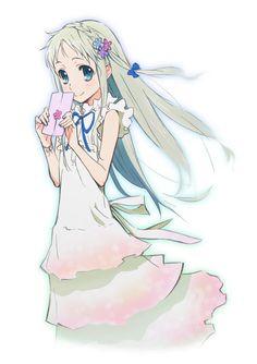 Menma from Anohana ! Manga Art, Manga Anime, Anime Art, Sad Anime, Kawaii Anime, Menma Anohana, Angel Manga, Hotarubi No Mori, A Silent Voice