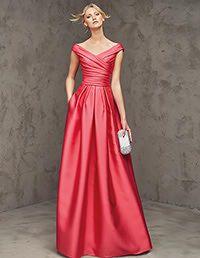 Pronovias > LASIRA -  Vestido de festa comprido e vermelho