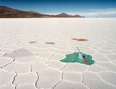 Scarlett Hooft Graafland's Photograph.  Salt Works, Bolivia, 2004