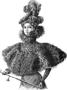 Vintage Ephemera: French. Paris fashion - 1897