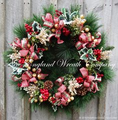 Christmas Wreath Holiday Wreath Country French Christmas xl