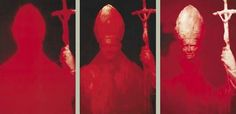 """Andres Serrano / Red Pope I-III (3 parts) Cibachrome print Overall size: 165 x 343.5 cm  65 x 135"""""""