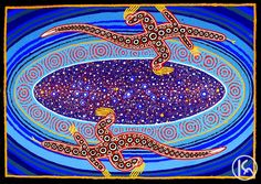 """Milky Way Dreaming"" by Malcolm Maloney Jagamarra 128cm x 90cm SOLD"