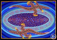 """Milky Way Dreaming"" by Malcolm Maloney Jagamarra 128cm x 90cm $6,600  http://www.aboriginalartstore.com.au/artists/malcolm-maloney-jagamarra/milky-way-dreaming-2/"