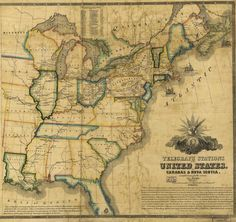 U.S. Telegraph Lines and Stations - 1853