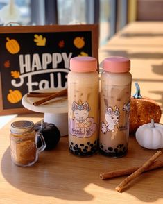 🍁FALL SEASON 🍁don't forget to come in and try our pumpkin series!! Also, you can add them into these cute unicorn bottles for only $3… Boba Bar, Keep Calm And Drink, Cute Unicorn, Bubble Tea, Milk Tea, Singles Day, Coffee Bottle, Belle Photo, Glass Bottles