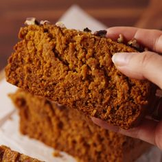Pumpkin bread you can feel good about. #food #pastryporn #halloween #gf #glutenfree #healthyeating #cleaneating #easyrecipe #recipe #ideas