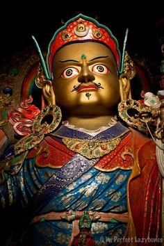 """""""Padmasambhava"""" in Tibetan Monastery, Ladakh, India"""