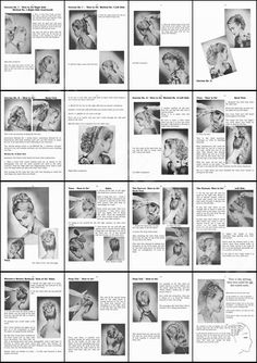 How To Do 1950s Hairstyles for Long Prom - Bridal Hair - 65 page PDF Book