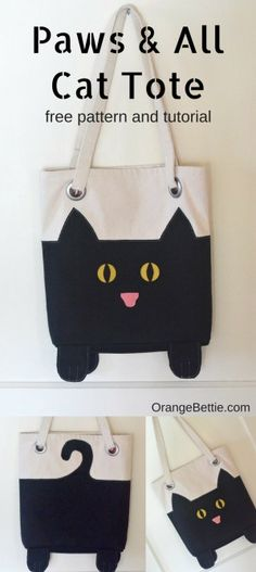 Paws And All Cat Tote – free sewing pattern
