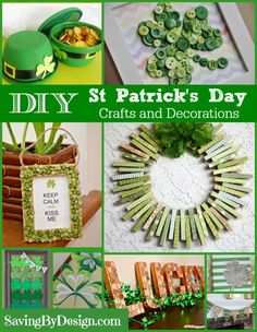 Make some fun DIY St. Patrick's Day decorations with these crafts!   Saving by Design
