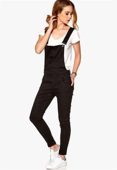 2nd One, Overalls, Skinny Jeans, Black, Fashion, Velvet, Scale Model, Skinny Fit Jeans, Moda