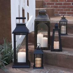 You can never go wrong with simple black lanterns. They are an easy way to decorate your porch for spring and create a welcoming feel for guests -- especially at night!