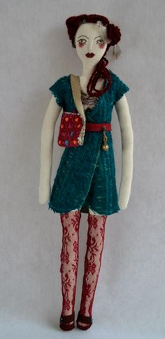 """Pia"", embroidered cloth doll by Hilvana http://www.hilvana.com.mx"