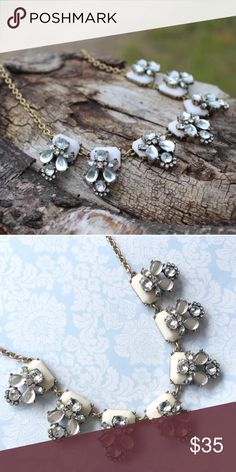 Jcrew ivory necklace! Cute small ivory necklace from jcrew factory. In excellent condition! J. Crew Jewelry Necklaces