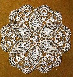 Home Decor Crochet Patterns Part 150 - Beautiful Crochet Patterns and Knitting Patterns Crochet Doily Diagram, Crochet Doily Patterns, Crochet Mandala, Thread Crochet, Crochet Scarves, Crochet Doilies, Crochet Lace, Crochet Stitches, Knitting Patterns